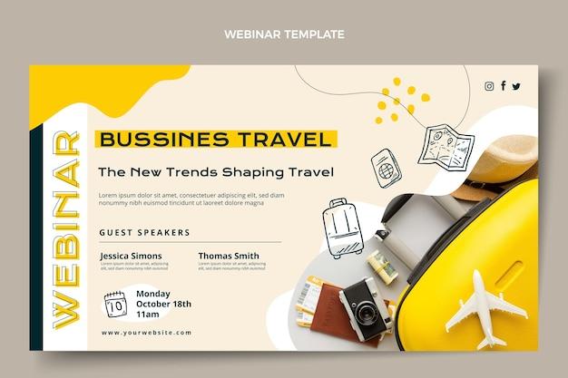 Seminário on-line de viagens de negócios em estilo simples