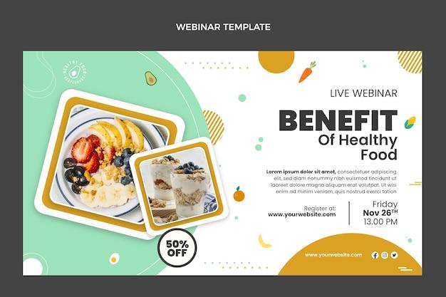 Seminário on-line sobre benefícios de alimentos saudáveis em design plano