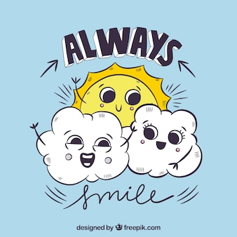 Sempre sorriso fundo