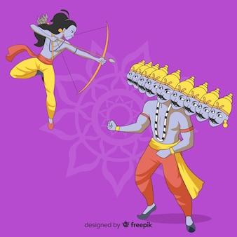 Senhor rama e ravana personagem