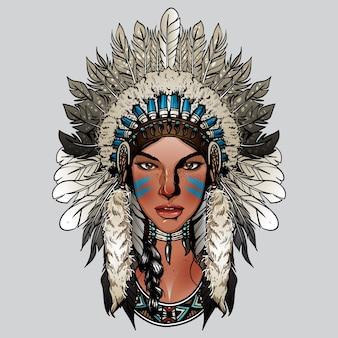 Senhora bonito indiano