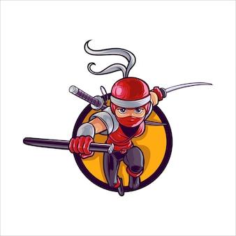 Senhora dos desenhos animados ninja