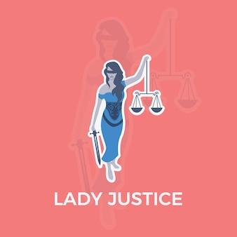 Senhora justiça characther