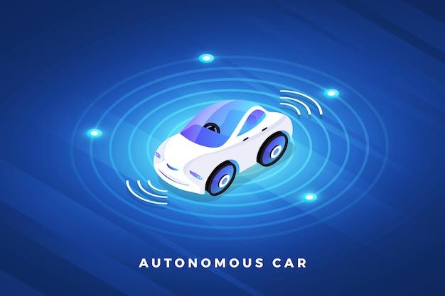 Sensores de automóvel autônomo e autônomo tecnologia de veículo sem motorista de carro inteligente