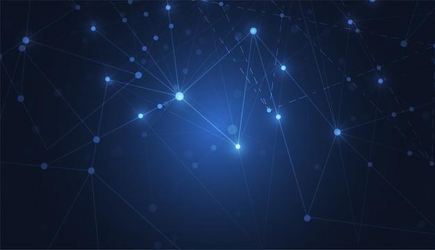 Sentido abstrato da conexão a internet do fundo da ciência