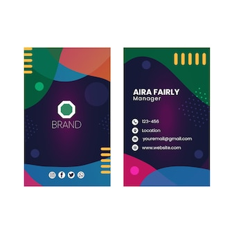 Seo cartão de visita frente e verso