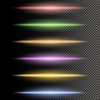 Separador multicolorido de linhas brilhantes de luz
