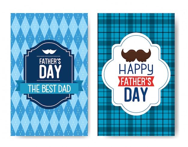 Ser cartões de feliz dia dos pais com decoração