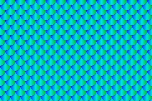 Sereia cauda folha textura efeito sem costura padrão
