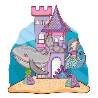 Sereia e castelo submarino