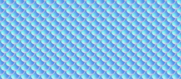 Sereia holográfica escala padrão sem emenda.