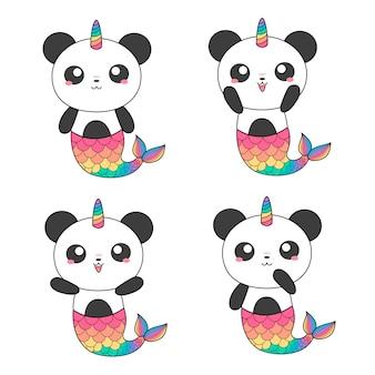 Sereias de pandas mágicas