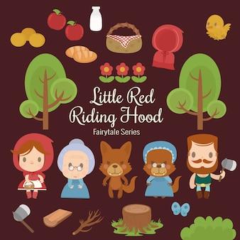 Série de conto de fadas chapeuzinho vermelho