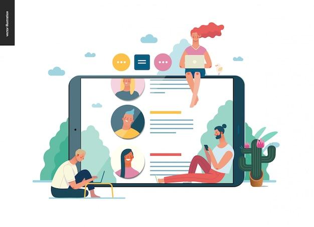 Série de negócios - comentários, modelo web