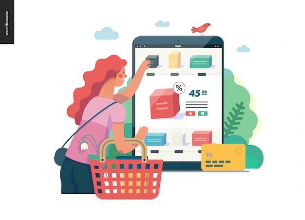 Série de negócios - compre o modelo de loja online