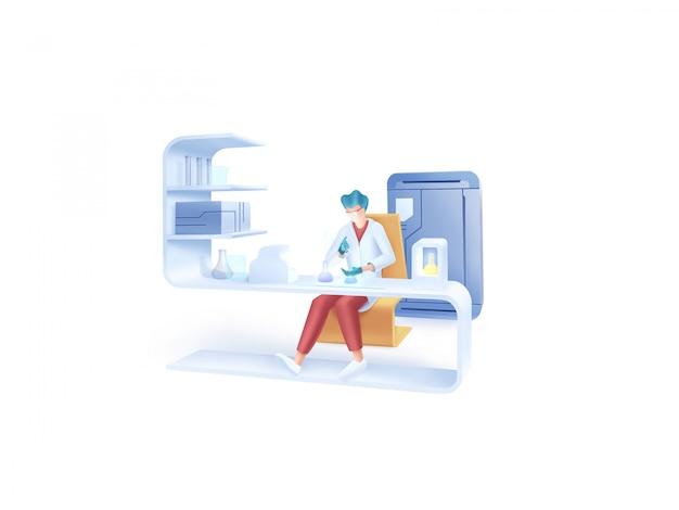 Série de saúde: ilustração de laboratório