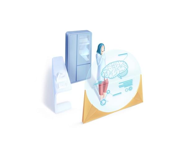 Série de saúde: ilustração de neurologista