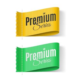 Série premium de etiquetas