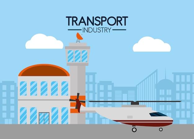 Serviço aéreo da indústria de transporte