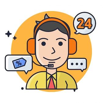 Serviço ao cliente masculino 24 horas