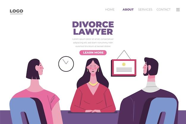Serviço de advogado de divórcio - landing page