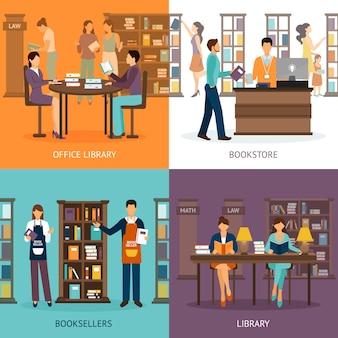Serviço de biblioteca 2x2 set