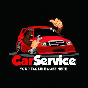 Serviço de carro e inspiração de design de logotipo de garagem