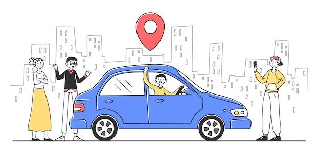 Serviço de compartilhamento de carros