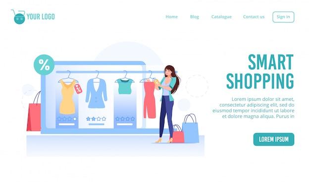 Serviço de compras inteligentes para comprar produtos de moda