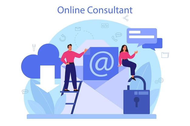 Serviço de consultoria profissional. pesquisa e recomendação. ideia de gerenciamento de estratégia e solução de problemas. ajude clientes com problemas de negócios.