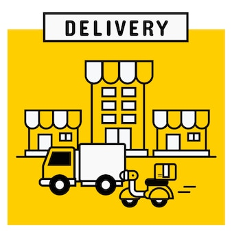 Serviço de entrega da plataforma de compras online.