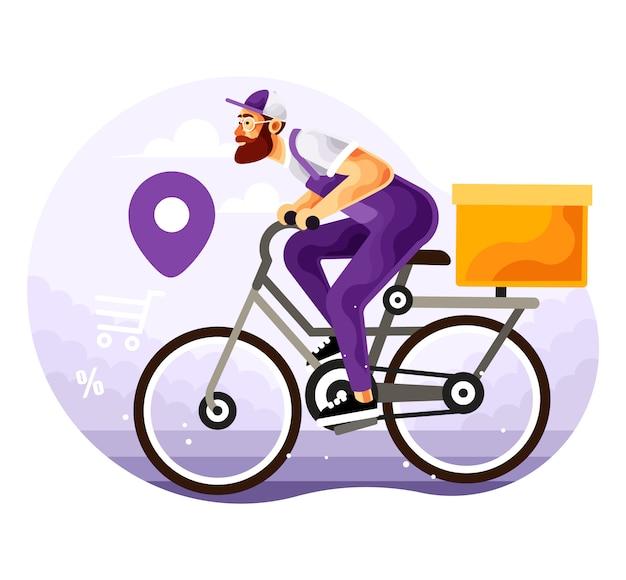 Serviço de entrega de bicicletas