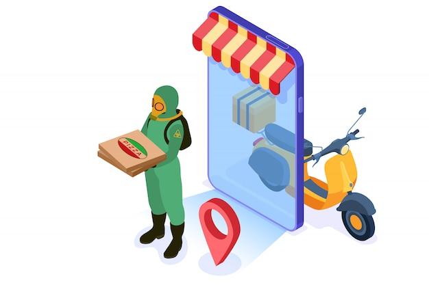 Serviço de entrega de comida on-line seguro