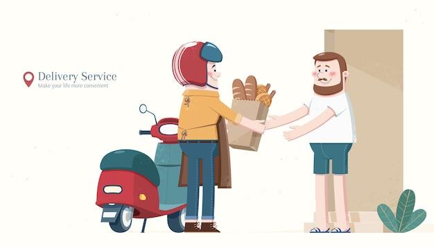 Serviço de entrega de comida