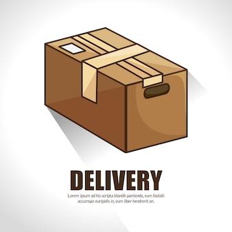 Serviço de entrega de embalagem de caixas de papelão