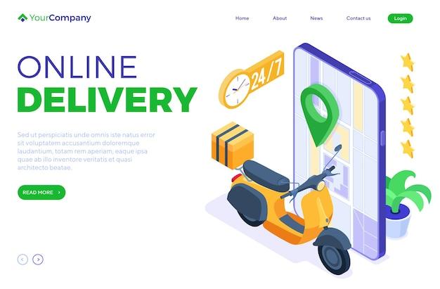 Serviço de entrega de encomendas e pacotes online rápido e gratuito. envio de fast food.