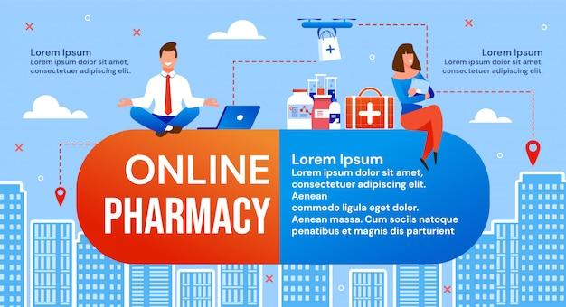 Serviço de entrega de medicamentos on-line e farmácias