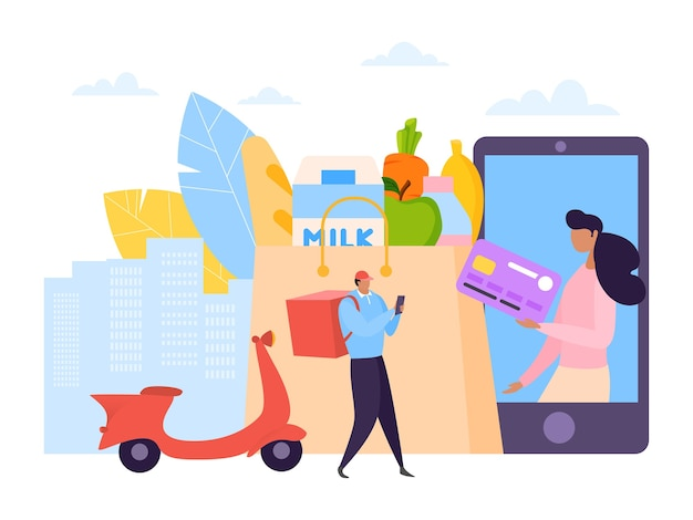 Serviço de entrega de mercearia online