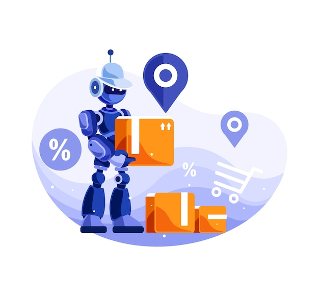 Serviço de entrega de robôs