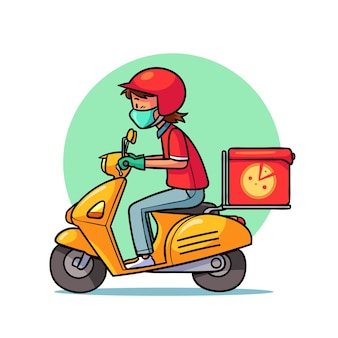 Serviço de entrega ilustrado