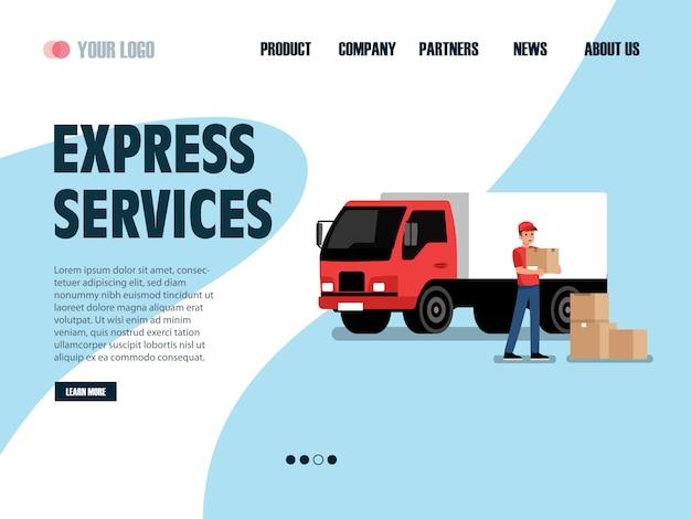 Serviço de entrega on-line