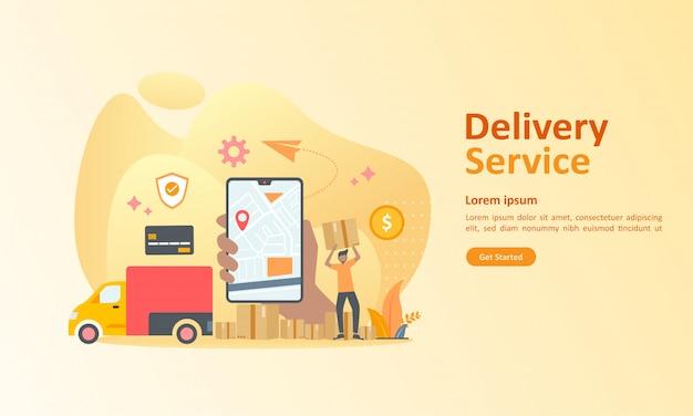 Serviço de entrega online em todo o mundo