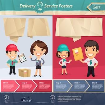 Serviço de entrega posters