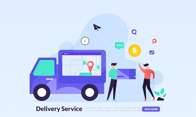 Serviço de entrega rápida, rastreamento de pedidos, logística global de frete grátis