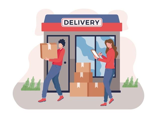 Serviço de entrega rápida