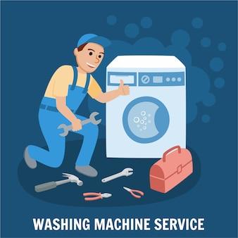 Serviço de lavadora