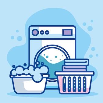 Serviço de lavanderia de pôster