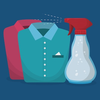 Serviço de lavanderia garrafa de respingo