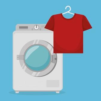 Serviço de lavanderia máquina de lavar roupa