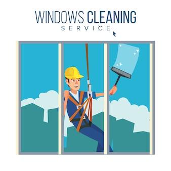 Serviço de limpeza de arranha-céus